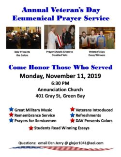 Veteran's Day Service @ Annunciation Parish | Green Bay | Wisconsin | United States