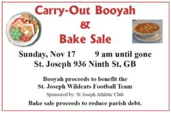 Carry-Out Booyah & Bake Sale @ St. Joseph Parish | Green Bay | Wisconsin | United States