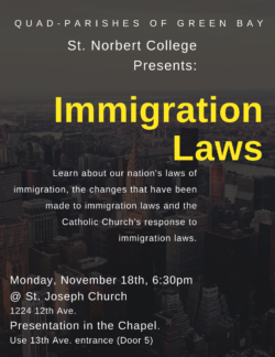 Immigration Laws Presentation @ St. Joseph Church (Chapel) | Green Bay | Wisconsin | United States