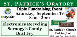 E-Cycle Event @ St. Patrick Parish | Green Bay | Wisconsin | United States