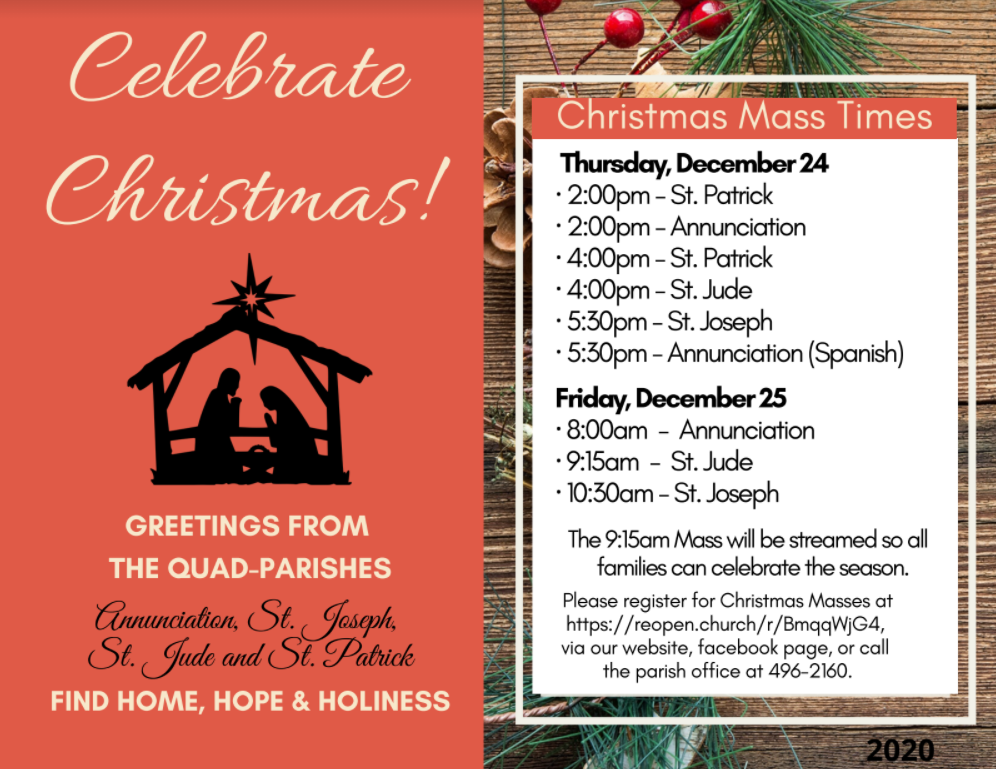 Christmas Mass Times In Green Bay For 2021