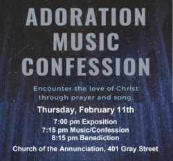 Adoration Music Confession @ Church of the Annunciation | Green Bay | Wisconsin | United States