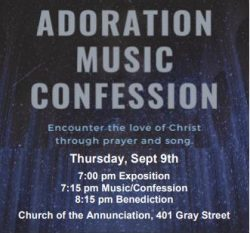 Adoration, Music & Confession @ Church of the Annunciation   Green Bay   Wisconsin   United States
