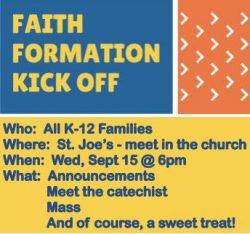 Faith Formation Kick-Off @ St. Joseph Parish | Green Bay | Wisconsin | United States